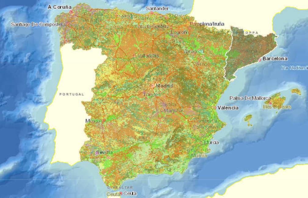 Sistema de información geográfica de datos agrarios