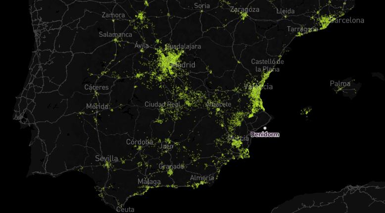 De dónde son los españoles que veranean en Benidorm (y en otros 55 destinos)