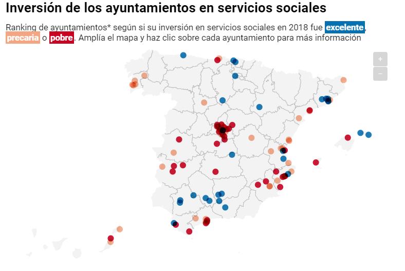 Mapa de los servicios sociales en España