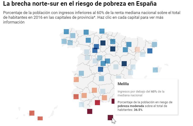 Capitales de provincia que tienen uno de cada cuatro habitantes en riesgo de pobreza