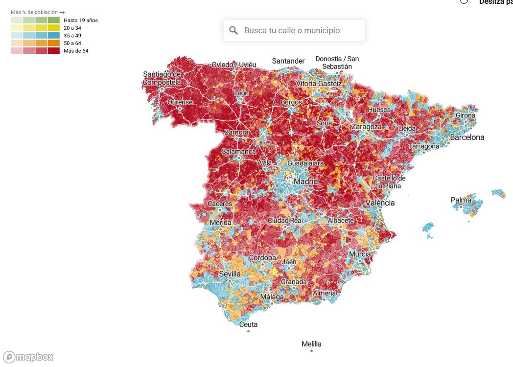 Radiografía de la población española: la brecha generacional, de origen y género, calle a calle