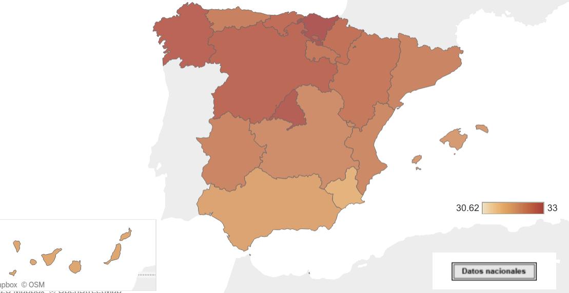 Mapas sobre la natalidad y fecundidad