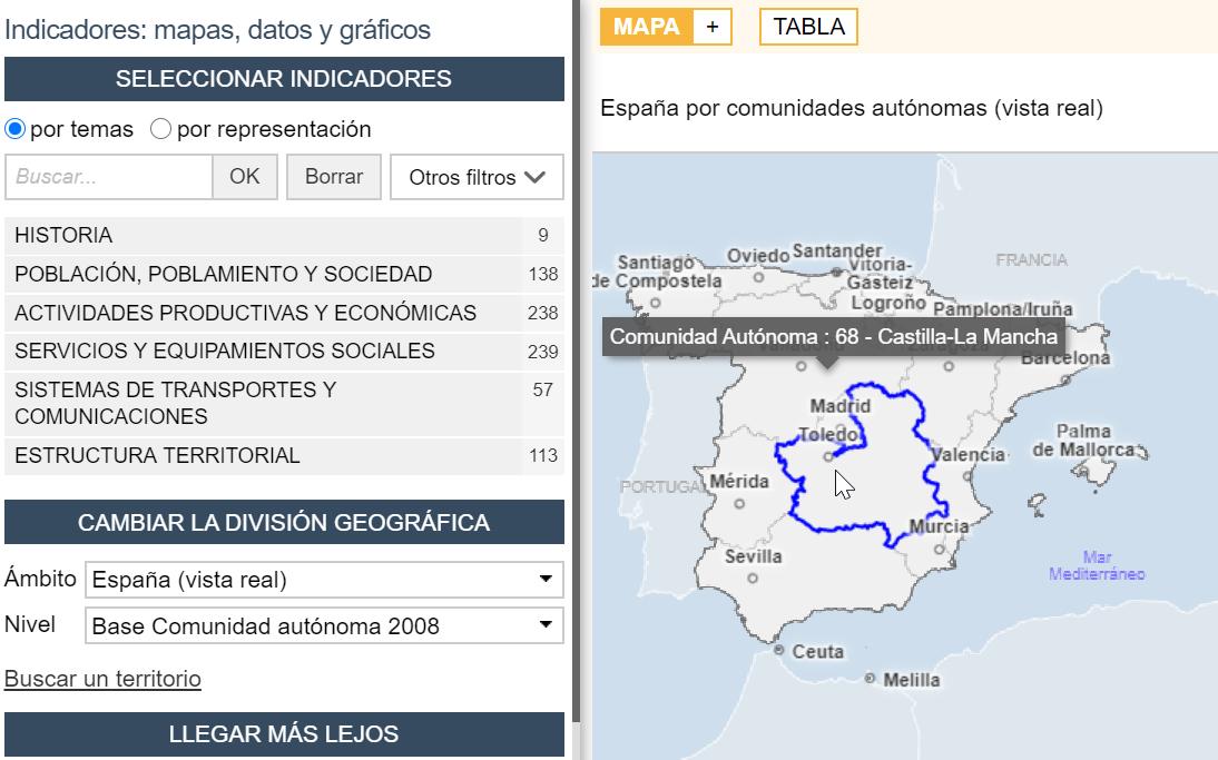 Atlas interactivo nacional de España